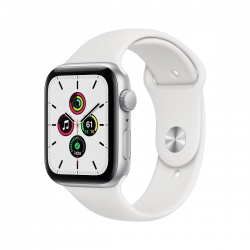Apple Watch SE Alu 44mm Silber Sportarmband we
