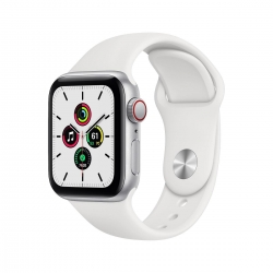 Apple Watch SE Alu 44mm Cellular Silber weiß