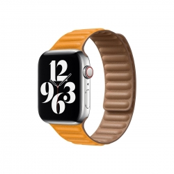 Apple Watch 40mm California Poppy Leather Link - Small