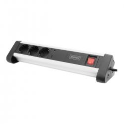 DIGITUS Steckdosenleiste 3-Fach mit 1x USB-C & 1x USB-A