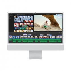 """Apple iMac 24"""" Retina 4.5K M1 Chip 8-Core CPU/GPU 256GB Silb"""