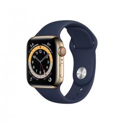 Apple Watch S6 Edelstahl 40mm Cellular Gold Sportarmband