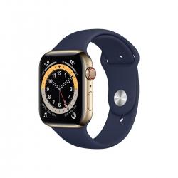 Apple Watch S6 Edelstahl 44mm Cellular Gold Sportarmband
