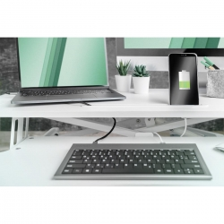 DIGITUS höhenverst. ergonomischer Schreibtischaufsatz weiß