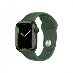 Apple Watch S7 Alu Grün 41mm Kleeblatt Sport